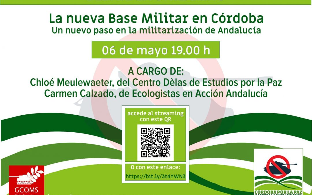 Convocan una charla-coloquio en streaming sobre la futura base logística militar de Córdoba
