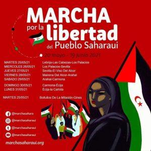 Marcha por la libertad del pueblo Saharaui