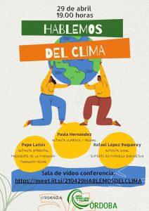 """Rebelión por el Clima organiza una tertulia """"Hablemos del Clima"""" @ https://meet.jit.si/210429HABLEMOSDELCLIMA"""