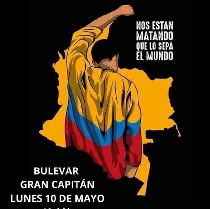 Córdoba Solidaria se suma a la condena de la violencia por parte del gobierno de Colombia hacia su población