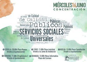 Concentración por los Servicios Públicos de Calidad en Andalucía. @ Ayuntamiento de Córdoba