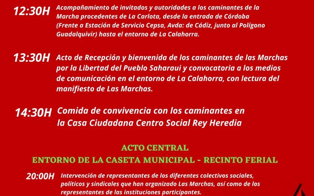 La Marcha por la Libertad del Pueblo Saharaui llega hoy a Córdoba