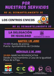 Contra el desmantelamiento de los Centros Cívicos y de la Delegación de Igualdad. @ Ayuntamiento de Córdoba