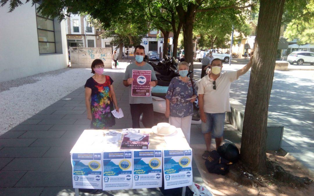 La Plataforma Córdoba por la Renta Básica Universal inicia la recogida de firmas en mesas itinerantes por la ciudad