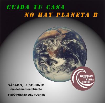 Rebelión por el Clima convoca una concentración este sábado por el Día del Medioambiente