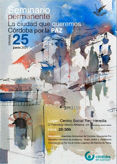 """Colectivos sociales reflexionan sobre  """"Córdoba como una ciudad de paz"""""""