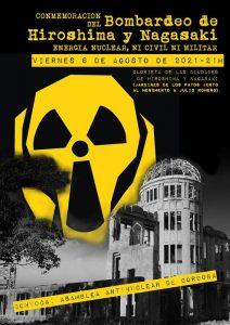 Conmemoración del bombardeo de Hiroshima y Nagasaki @ Glorieta de las ciudades de Hiroshima y Nagasaki