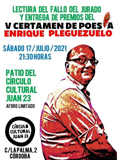 """Róger Lázaro Ynca, premio """"Enrique Pleguezuelo"""" de Poesía."""