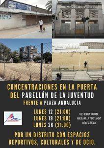Por un Distrito Sur con espacios deportivos, culturales y de ocio @ Solar antiguo Pabellón de la Juventud