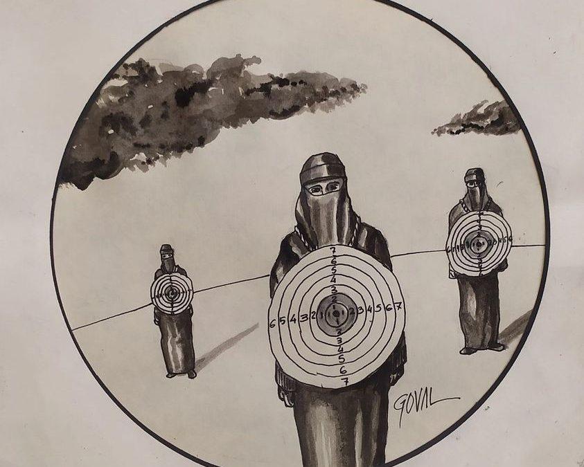 """La viñeta de Goval: """"Mujeres afganas, dianas del fundamentalismo talibán"""""""
