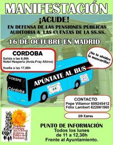 Manifestación por el sistema público de pensiones en Madrid @ Madrid