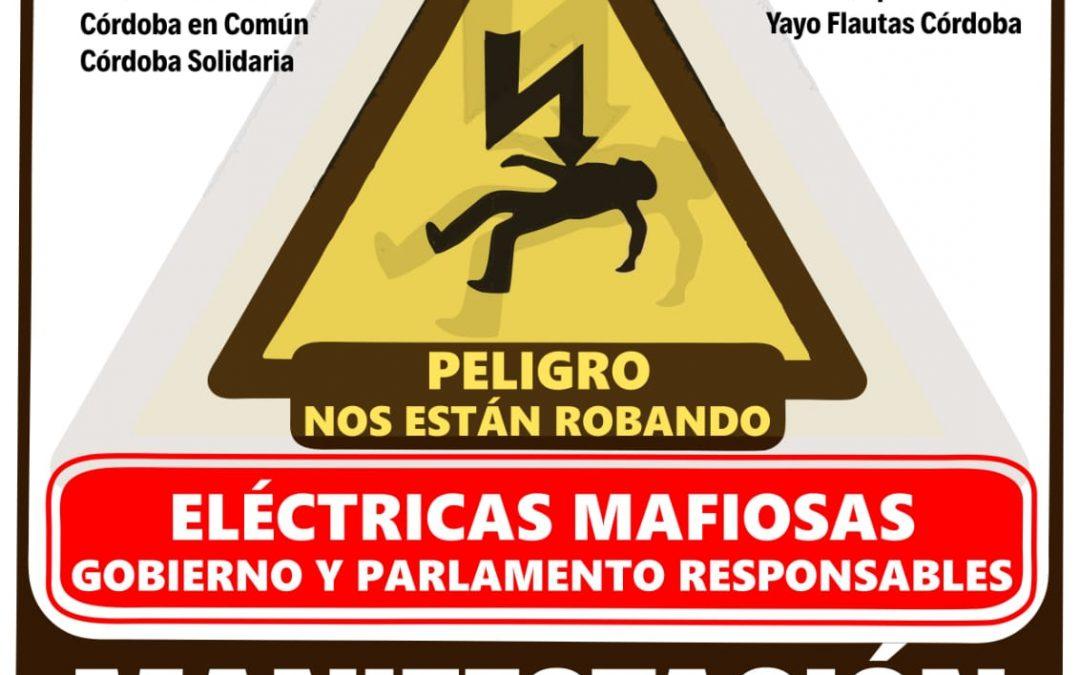 Más de 20 colectivos sociales de Córdoba convocan a la ciudadanía a expresar su rechazo a la estafa de las eléctricas