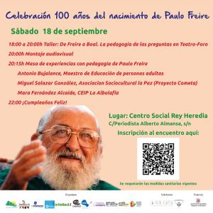 100 años del nacimiento de Paulo Freire @ Centro Social Rey Heredia