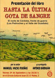 """Presentación de """"Hasta la última gota de sangre"""", de Manuel Vacas, en el C.C. Juan 23 @ C.C. Juan 23"""