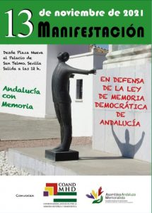 Manifestación en Sevilla en defensa de la Ley de Memoria Democrática de Andalucía @ Plaza Nueva